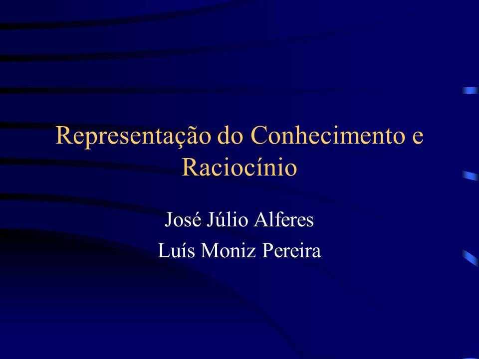 Representação do Conhecimento e Raciocínio José Júlio Alferes Luís Moniz Pereira