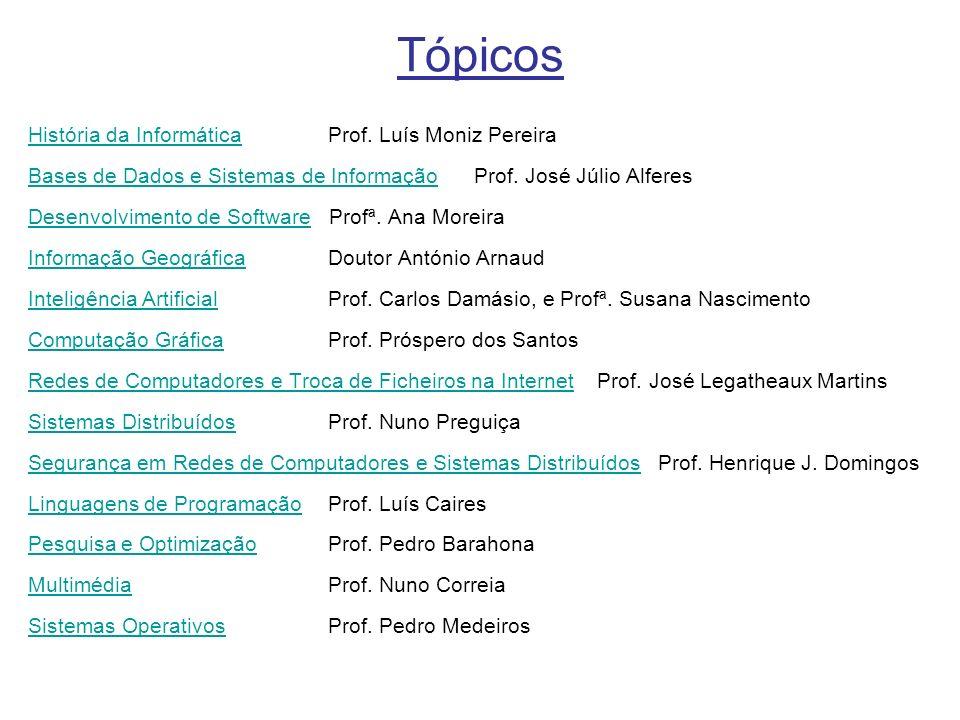 Tópicos História da InformáticaHistória da Informática Prof.