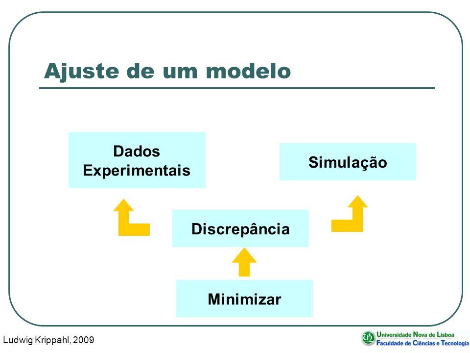 Ludwig Krippahl, 2009 3 Ajuste de um modelo Dados Experimentais Simulação Discrepância Minimizar