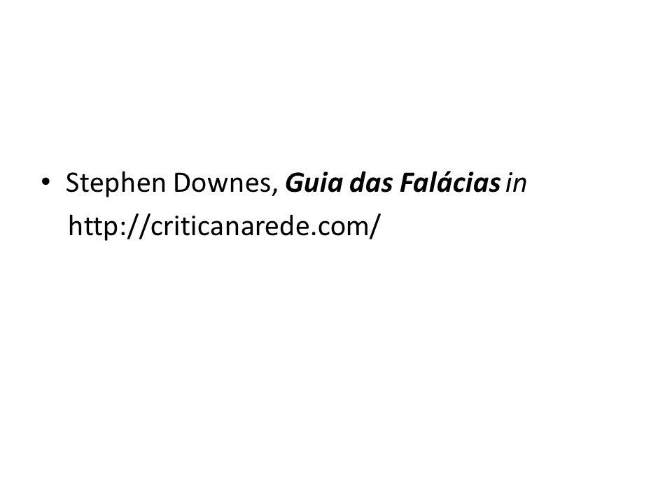 Stephen Downes, Guia das Falácias in http://criticanarede.com/