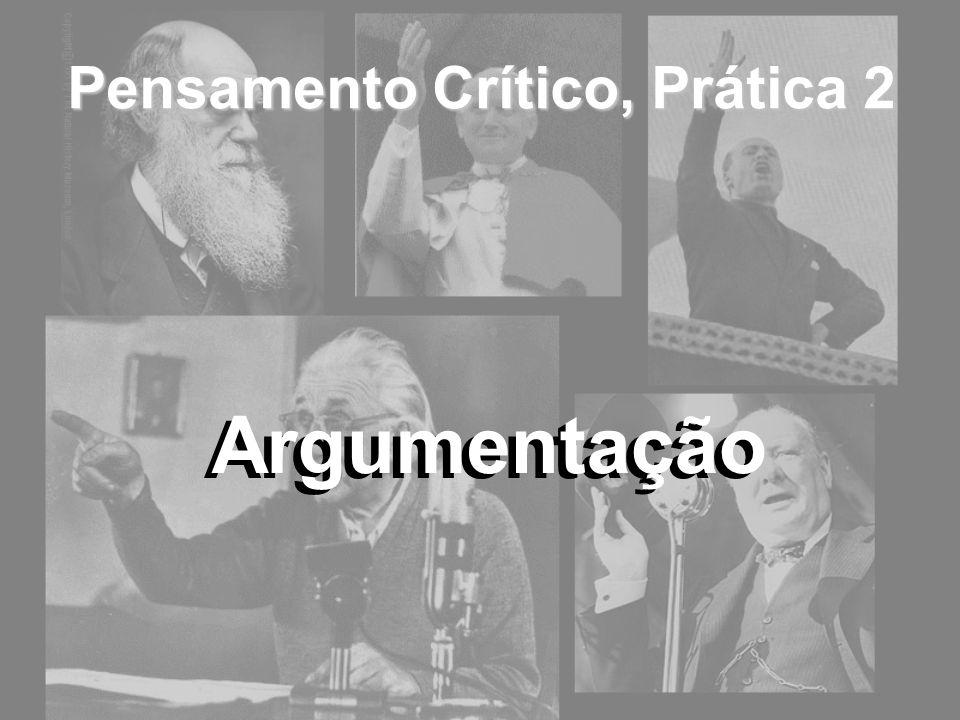 Pensamento Crítico, Prática 2 Argumentação