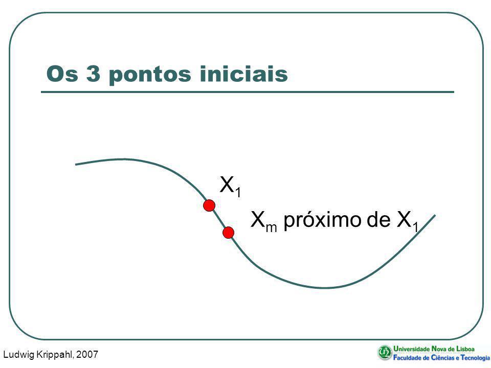 Ludwig Krippahl, 2007 18 Os 3 pontos iniciais X1X1 X m próximo de X 1