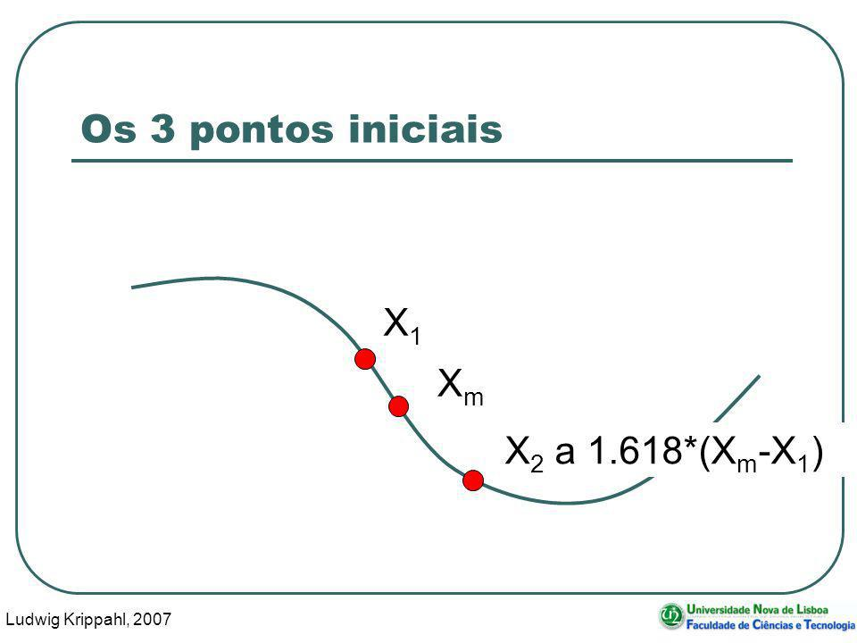 Ludwig Krippahl, 2007 20 Os 3 pontos iniciais X1X1 XmXm X 2 a 1.618*(X m -X 1 )
