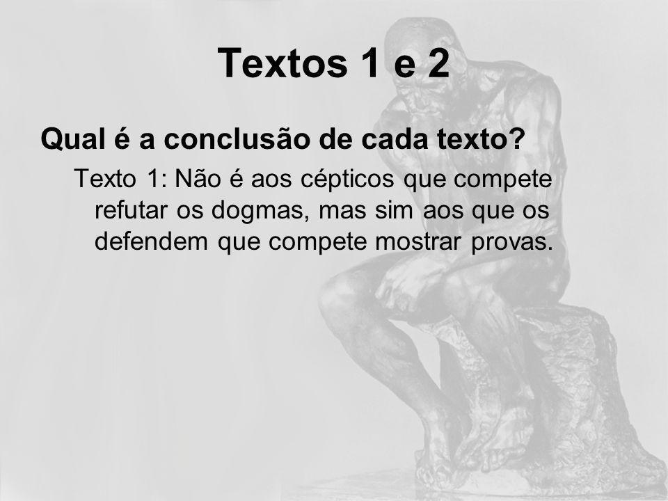 Qual é a conclusão de cada texto.Texto 2: O Reiki é um método fácil para capturar energia vital.
