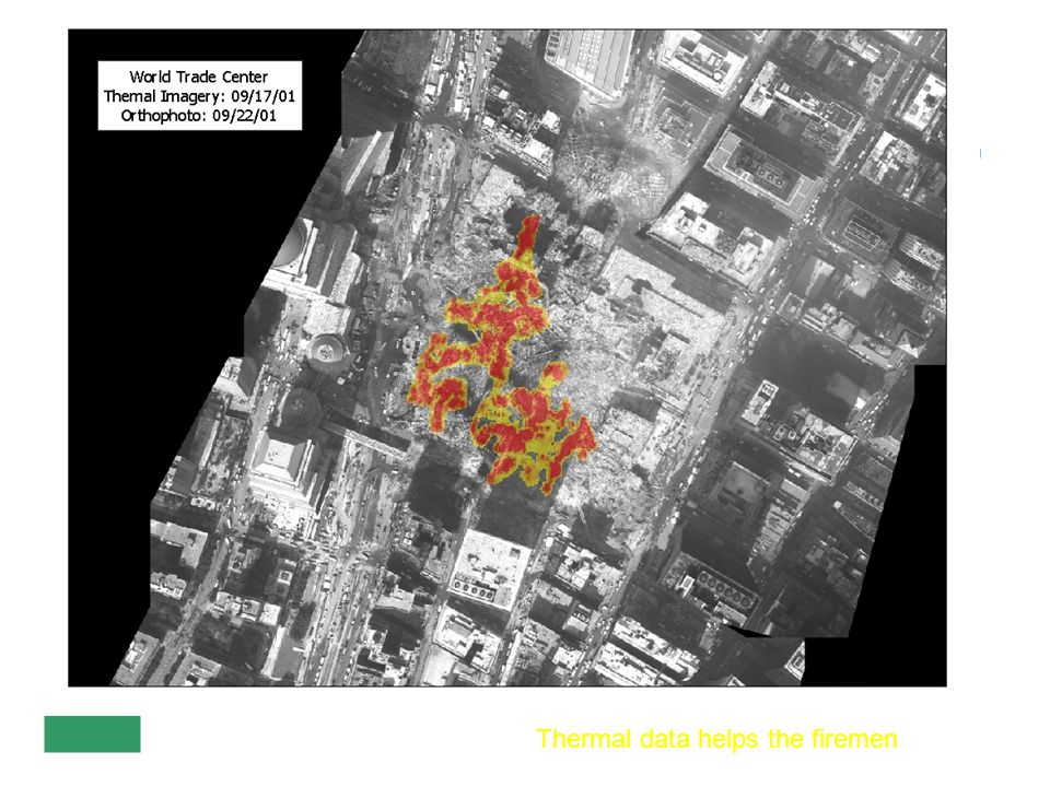 Thermal data helps the firemen