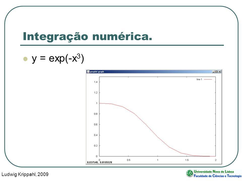 Ludwig Krippahl, 2009 23 Integração numérica. y = exp(-x 3 )