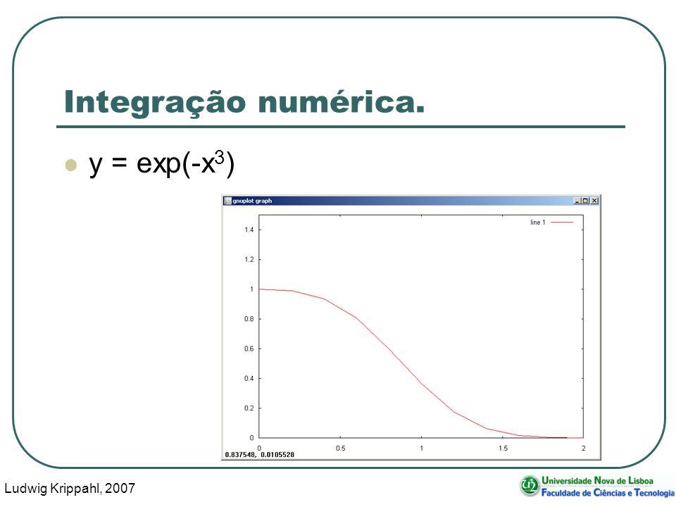 Ludwig Krippahl, 2007 5 Integração numérica Aproximar a função considerando cada rectângulo dx*y