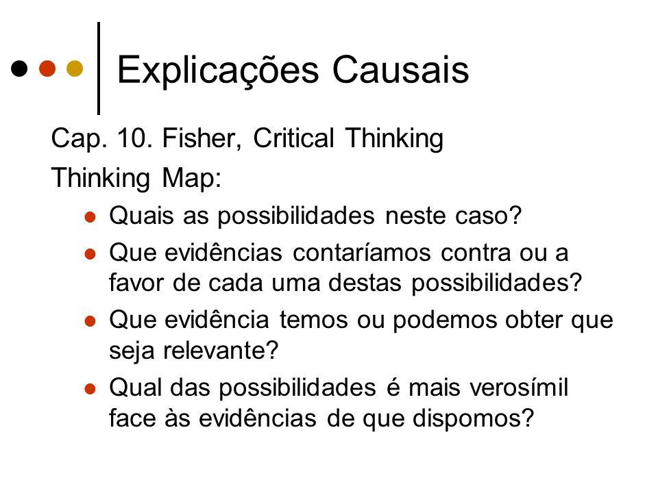 Explicações Causais Cap. 10.