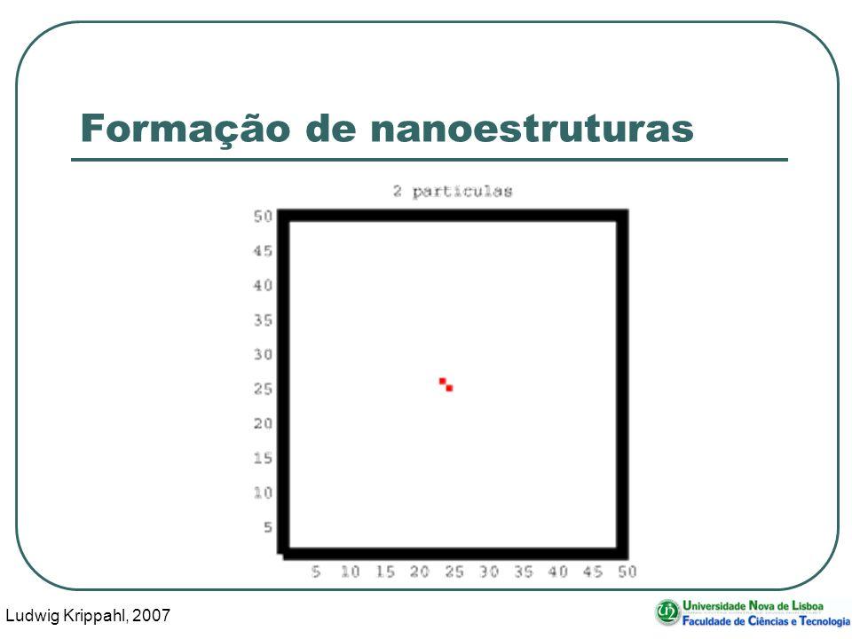 Ludwig Krippahl, 2007 69 Formação de nanoestruturas