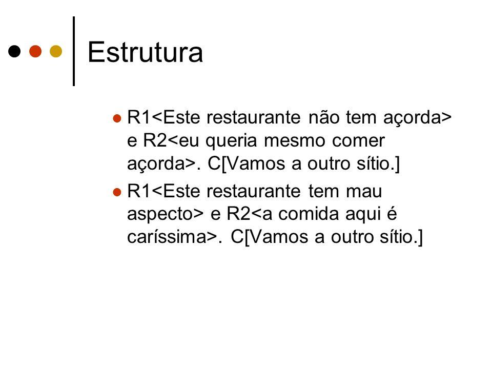 Estrutura R1 e R2. C[Vamos a outro sítio.]
