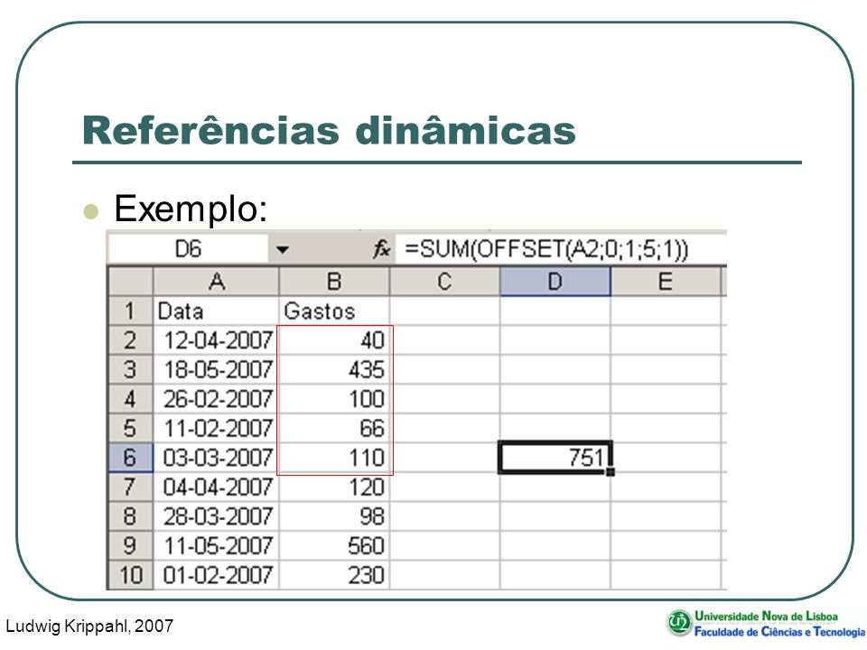 Ludwig Krippahl, 2007 15 Referências dinâmicas Exemplo: