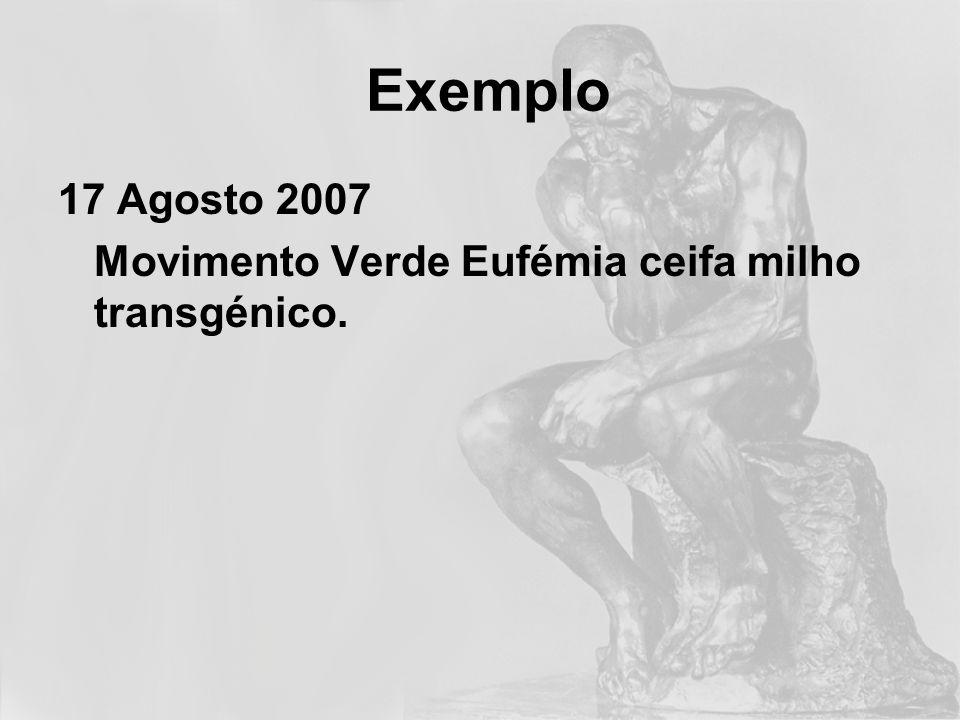 O nosso objectivo é restabelecer a ordem ecológica, moral e democrática, que tem sido constantemente minada pelas políticas da Comissão Europeia e do governo português.