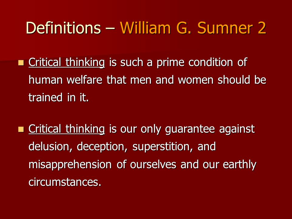 Definitions – William G.