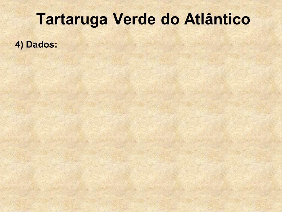 Tartaruga Verde do Atlântico 4) Dados: