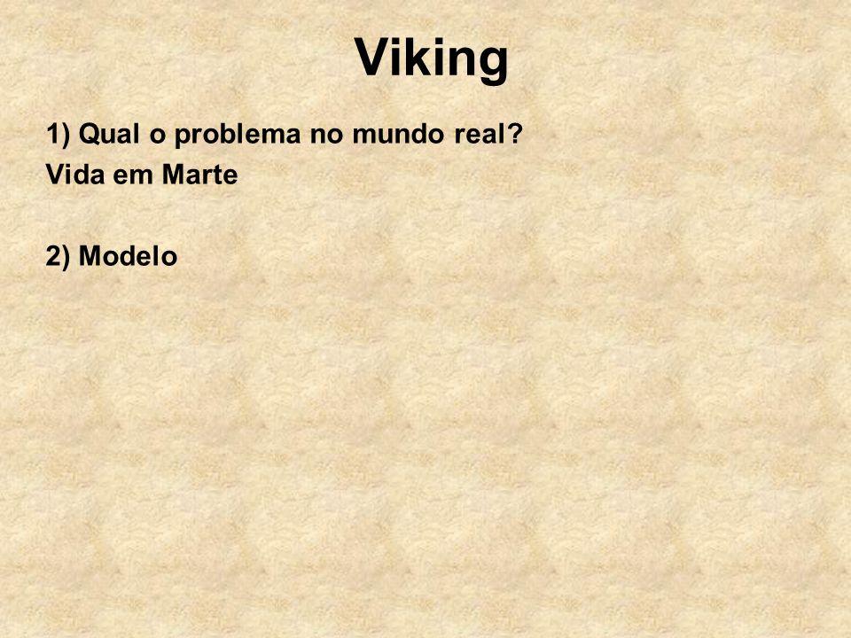 Viking 1) Qual o problema no mundo real? Vida em Marte 2) Modelo