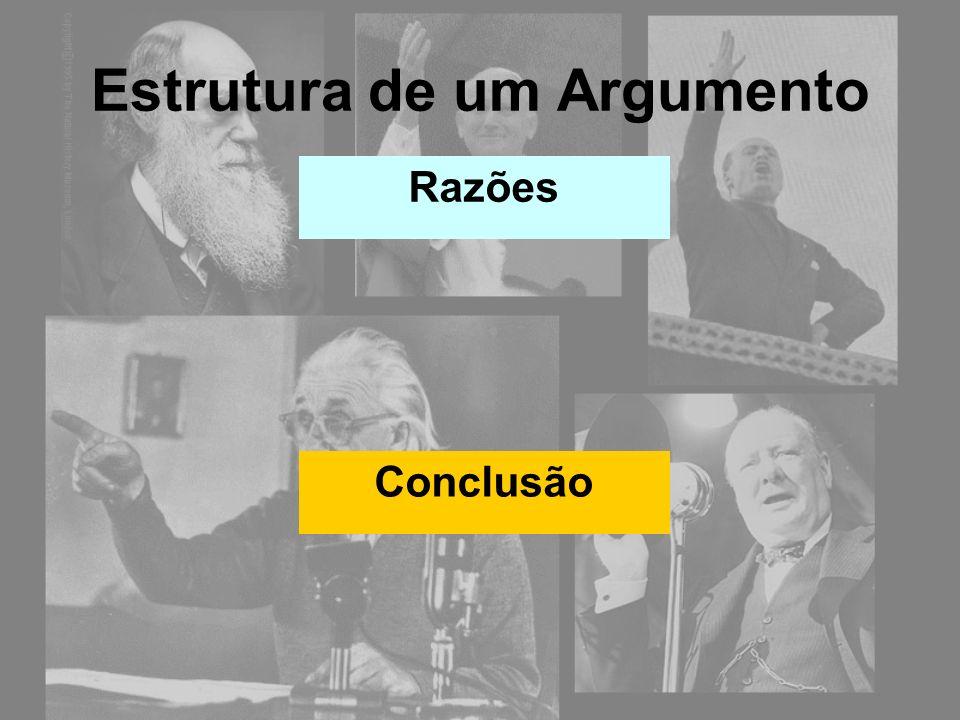 Estrutura de um Argumento Conclusão Razões