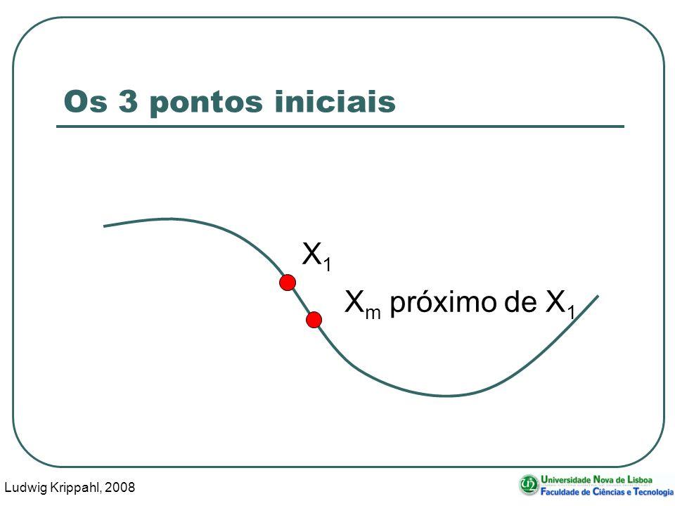 Ludwig Krippahl, 2008 18 Os 3 pontos iniciais X1X1 X m próximo de X 1