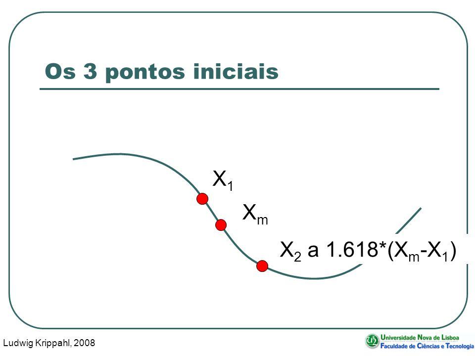 Ludwig Krippahl, 2008 20 Os 3 pontos iniciais X1X1 XmXm X 2 a 1.618*(X m -X 1 )
