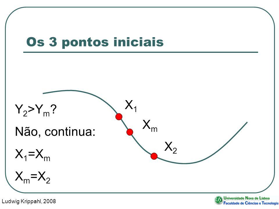 Ludwig Krippahl, 2008 21 Os 3 pontos iniciais X1X1 XmXm X2X2 Y 2 >Y m .