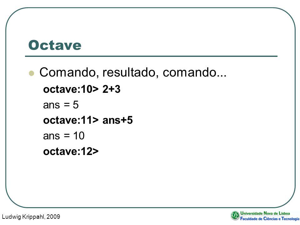 Ludwig Krippahl, 2009 18 Octave Comando, resultado, comando...