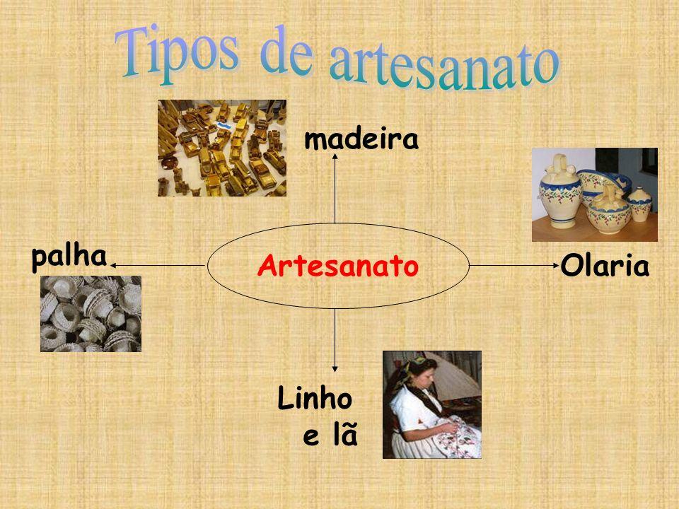 palha Linho e lã Olaria madeira Artesanato