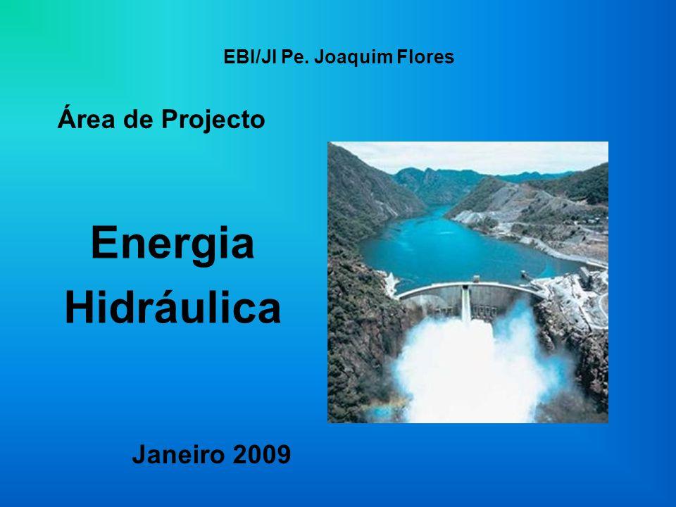 EBI/JI Pe. Joaquim Flores Energia Hidráulica Área de Projecto Janeiro 2009