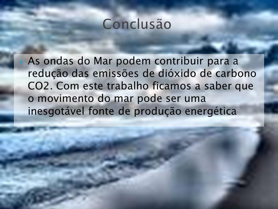 As ondas do Mar podem contribuir para a redução das emissões de dióxido de carbono CO2. Com este trabalho ficamos a saber que o movimento do mar pode