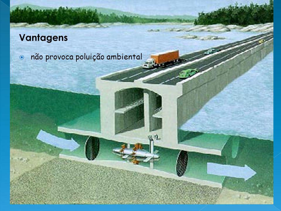 Vantagens não provoca poluição ambiental