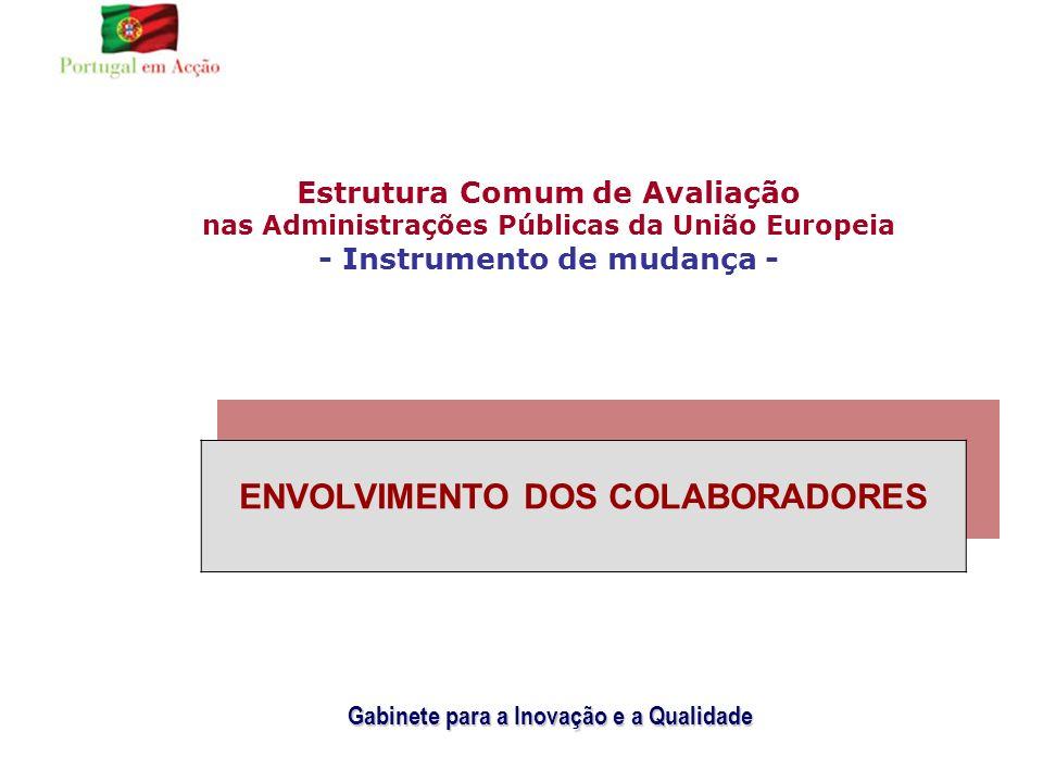 Estrutura Comum de Avaliação nas Administrações Públicas da União Europeia - Instrumento de mudança - Gabinete para a Inovação e a Qualidade ENVOLVIMENTO DOS COLABORADORES (2ª PARTE)