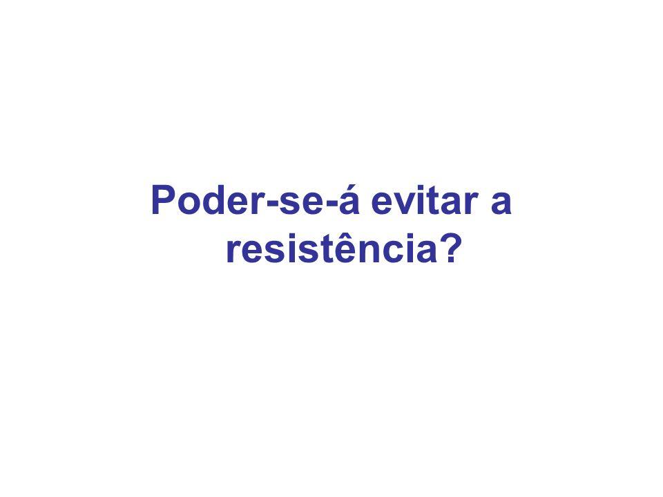 Poder-se-á evitar a resistência?