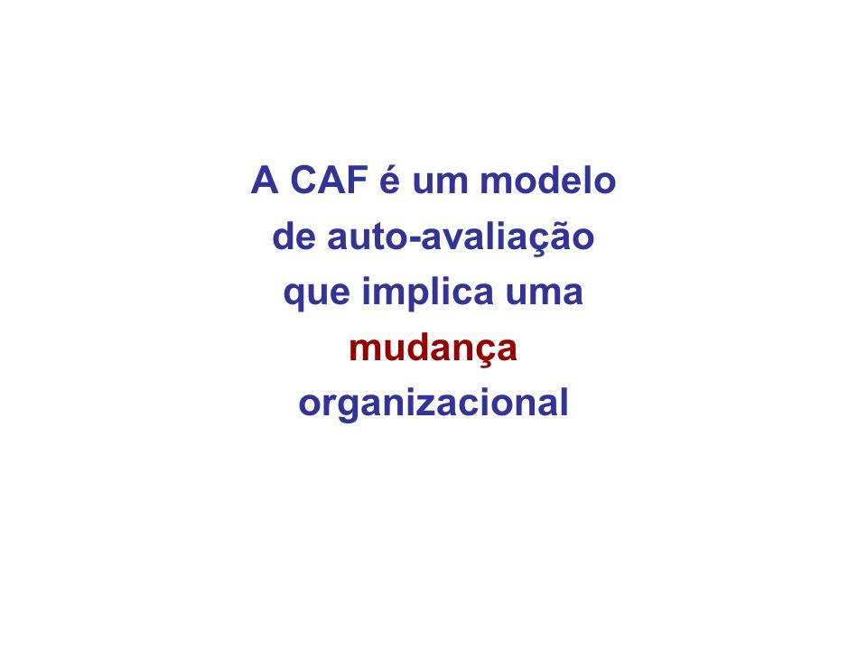 A CAF é um modelo de auto-avaliação que implica uma mudança organizacional