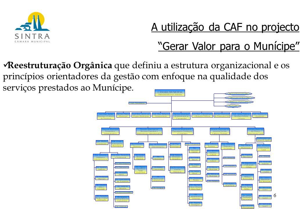 6 Reestruturação Orgânica que definiu a estrutura organizacional e os princípios orientadores da gestão com enfoque na qualidade dos serviços prestados ao Munícipe.