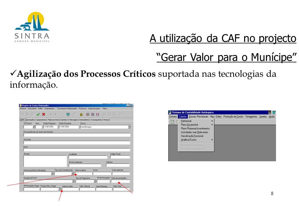 8 Agilização dos Processos Críticos suportada nas tecnologias da informação.