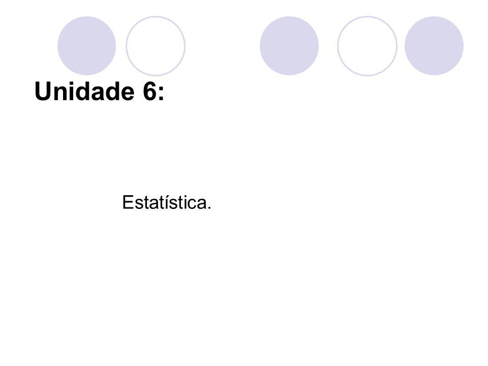 Unidade 6: Estatística.