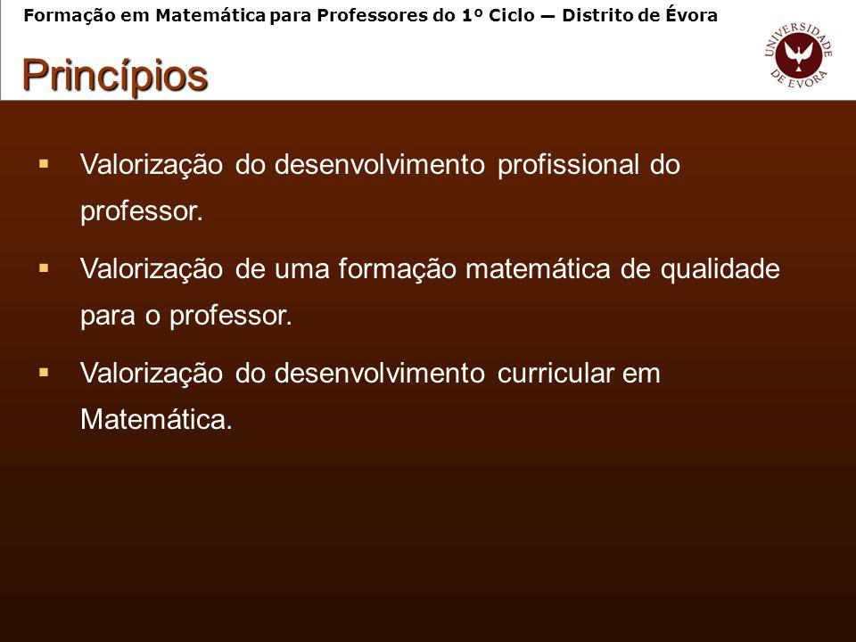 Reconhecimento das práticas lectivas dos professores como ponto de partida da formação.