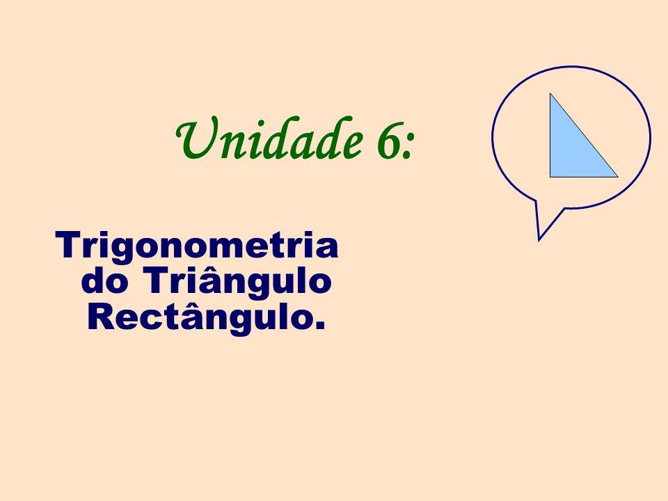 Unidade 6: Trigonometria do Triângulo Rectângulo.