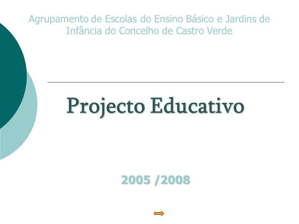 Projecto Educativo 2005 /2008 Agrupamento de Escolas do Ensino Básico e Jardins de Infância do Concelho de Castro Verde