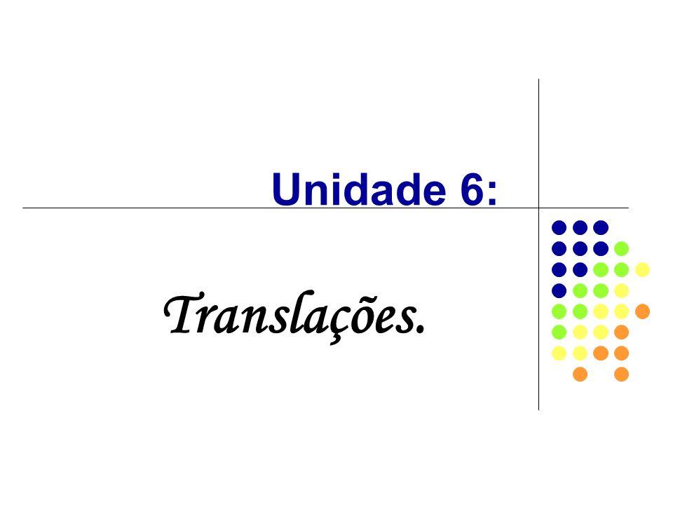 Unidade 6: Translações.