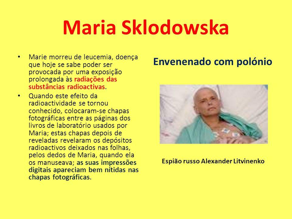 Marie morreu de leucemia, doença que hoje se sabe poder ser provocada por uma exposição prolongada às radiações das substâncias radioactivas. Quando e