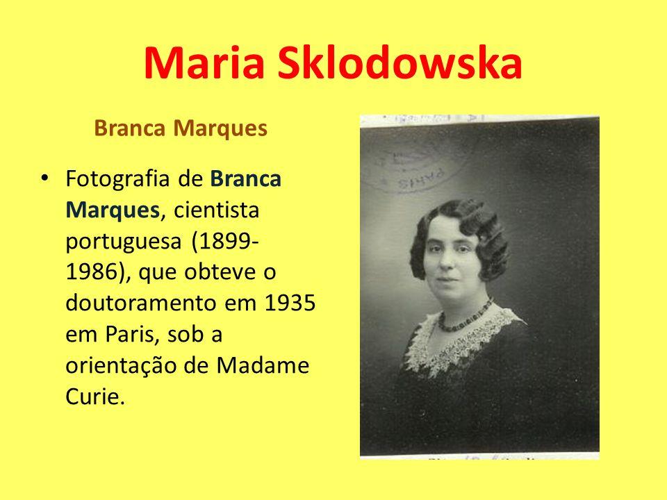 Branca Marques Fotografia de Branca Marques, cientista portuguesa (1899- 1986), que obteve o doutoramento em 1935 em Paris, sob a orientação de Madame