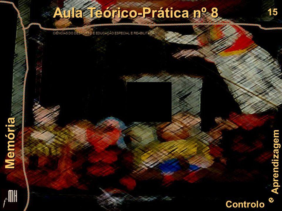 15 Controlo e Aprendizagem Aula Teórico-Prática nº 8 CIÊNCIAS DO DESPORTO E EDUCAÇÃO ESPECIAL E REABILITAÇÃO Aula Teórico-Prática nº 8 CIÊNCIAS DO DES