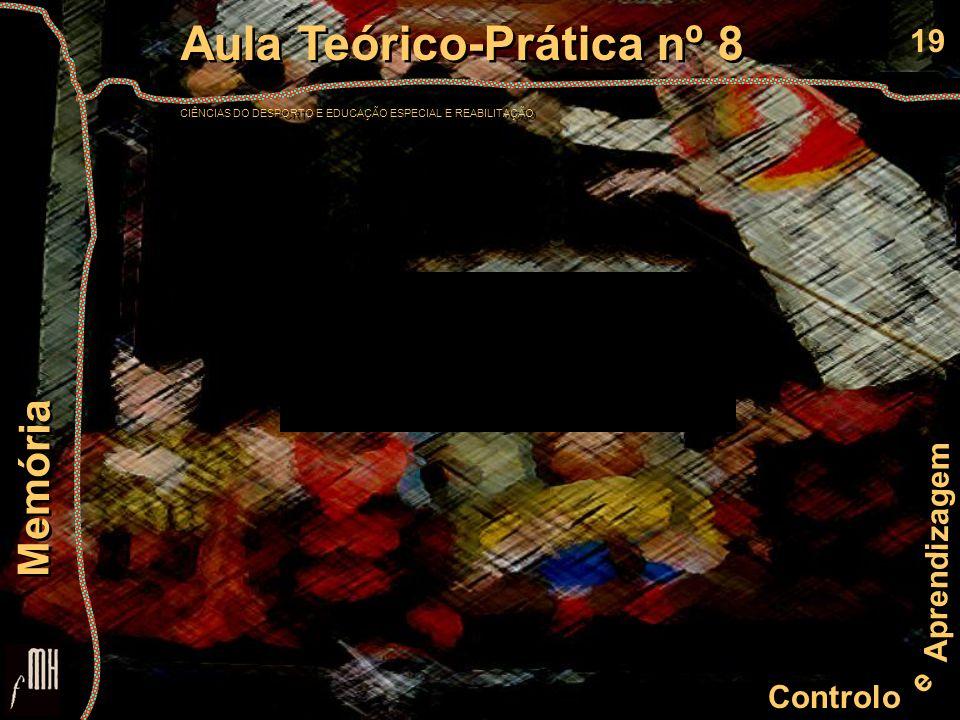 19 Controlo e Aprendizagem Aula Teórico-Prática nº 8 CIÊNCIAS DO DESPORTO E EDUCAÇÃO ESPECIAL E REABILITAÇÃO Aula Teórico-Prática nº 8 CIÊNCIAS DO DES