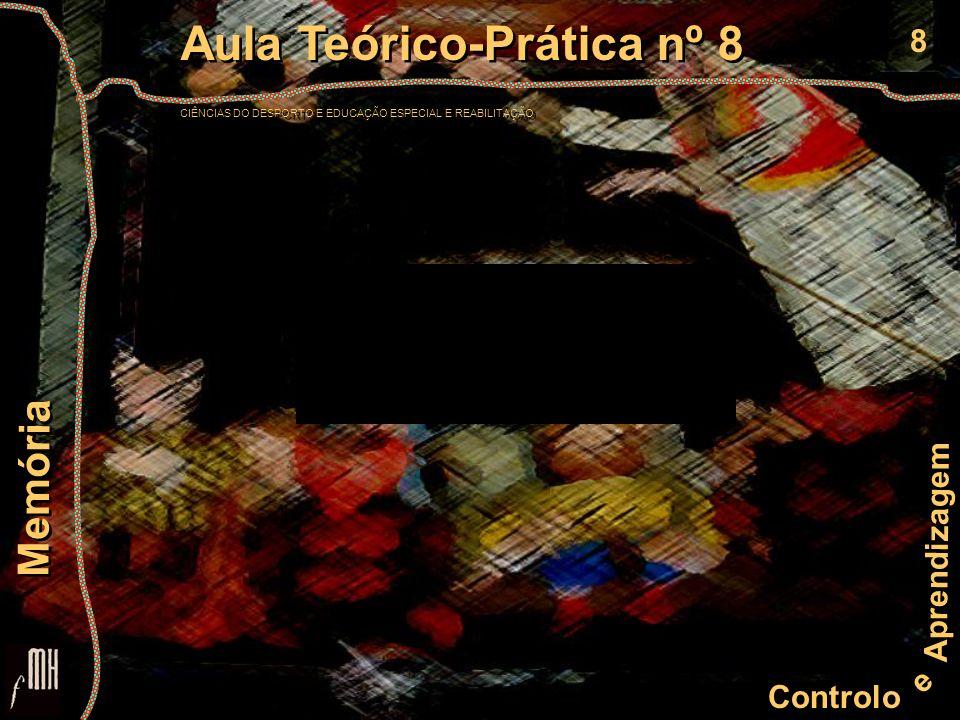 8 Controlo e Aprendizagem Aula Teórico-Prática nº 8 CIÊNCIAS DO DESPORTO E EDUCAÇÃO ESPECIAL E REABILITAÇÃO Aula Teórico-Prática nº 8 CIÊNCIAS DO DESP