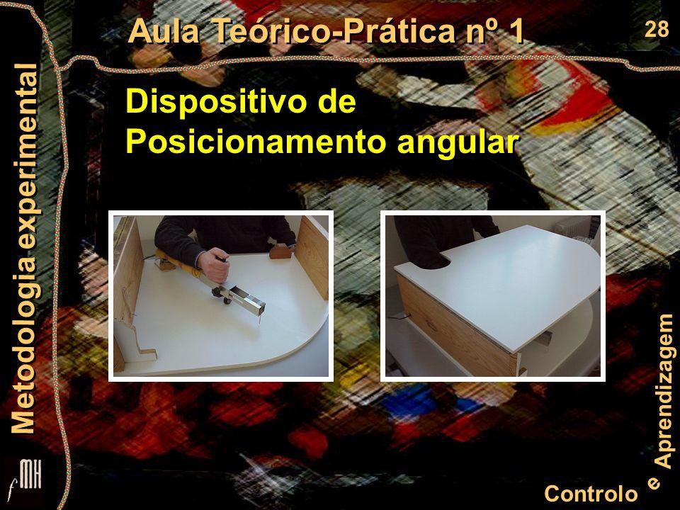 28 Controlo e Aprendizagem Aula Teórico-Prática nº 1 Metodologia experimental Dispositivo de Posicionamento angular Dispositivo de Posicionamento angular