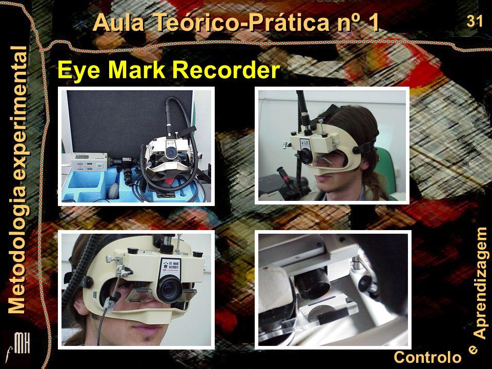 31 Controlo e Aprendizagem Aula Teórico-Prática nº 1 Metodologia experimental Eye Mark Recorder