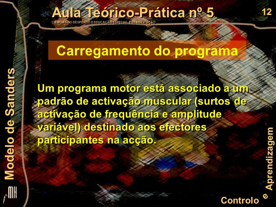 12 Controlo e Aprendizagem Aula Teórico-Prática nº 5 CIÊNCIAS DO DESPORTO E EDUCAÇÃO ESPECIAL E REABILITAÇÃO Aula Teórico-Prática nº 5 CIÊNCIAS DO DES