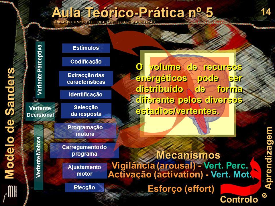 14 Controlo e Aprendizagem Aula Teórico-Prática nº 5 CIÊNCIAS DO DESPORTO E EDUCAÇÃO ESPECIAL E REABILITAÇÃO Aula Teórico-Prática nº 5 CIÊNCIAS DO DES