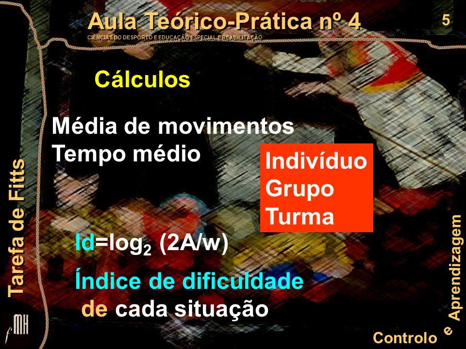 5 Controlo e Aprendizagem Aula Teórico-Prática nº 4 CIÊNCIAS DO DESPORTO E EDUCAÇÃO ESPECIAL E REABILITAÇÃO Aula Teórico-Prática nº 4 CIÊNCIAS DO DESP