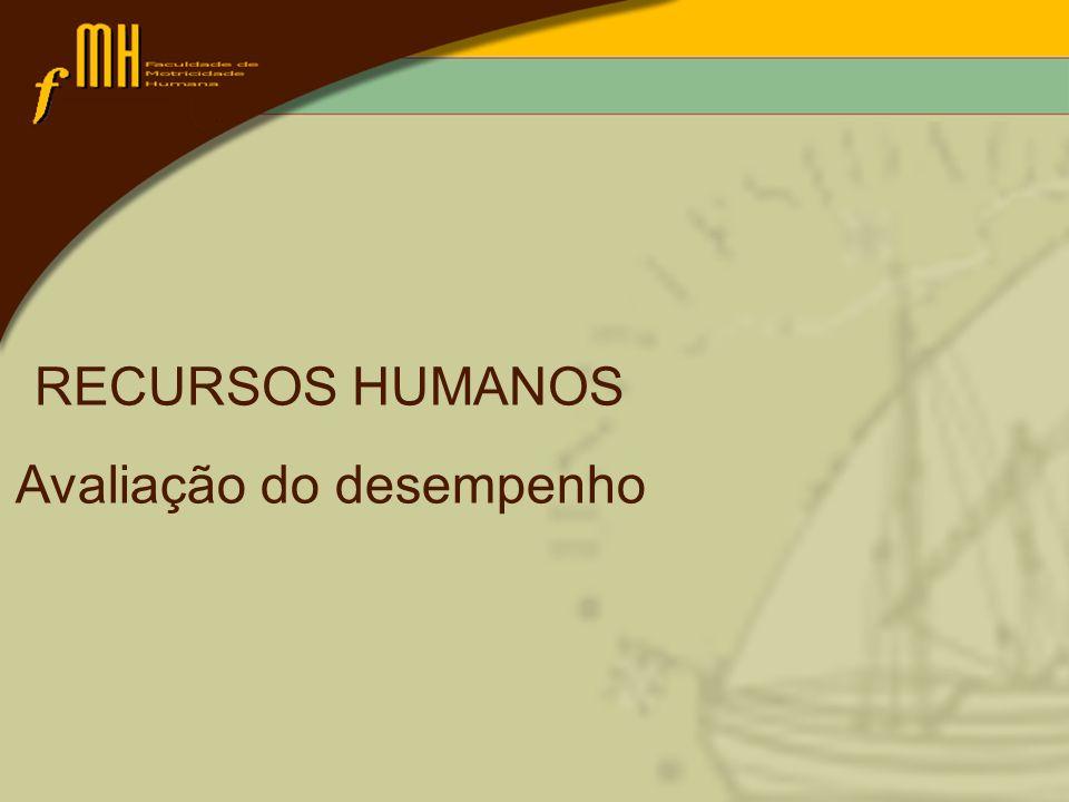 RECURSOS HUMANOS Avaliação do desempenho
