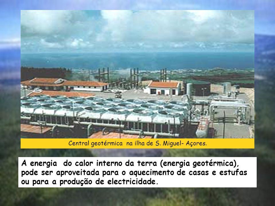 Central geotérmica na ilha de S.Miguel- Açores.